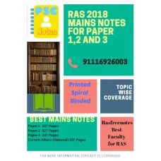 Rasfree Detailed Complete Mains Printed Spiral Binding Notes-COD Facility