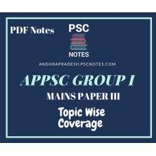 APPSC Group 1 Revised Mains Syllabus PDF Notes for Paper 3