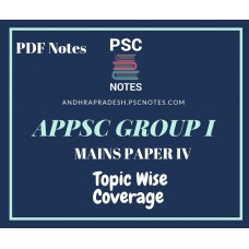APPSC Group 1 Revised Mains Syllabus PDF Notes for Paper 4