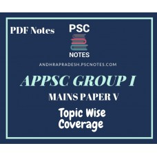 APPSC Group 1 Revised Mains Syllabus PDF Notes for Paper 5