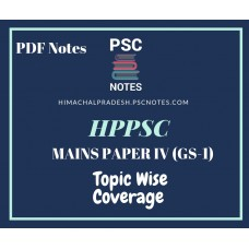 HPPSC Revised Mains Syllabus PDF Notes for  Paper 4 (GS-1)