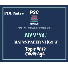 HPPSC Revised Mains Syllabus PDF Notes for Paper 6 (GS-III)