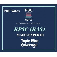KPSC Revised Mains Syllabus PDF Notes for Paper 3
