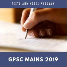 GPSC Mains Tests and Notes Program