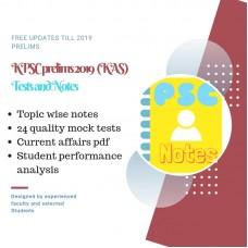 KPSC Prelims test-series and Notes Program-2019