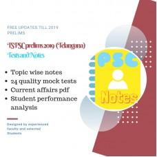 TSPSC Prelims Exam 2019- test-series and Notes Program
