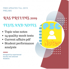 RAS Prelims test-series and Notes Program