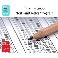 GPSC Prelims test-series and Notes Program-2020 Updated Notes and Tests
