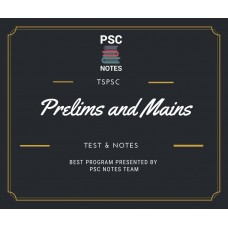 Tspsc Prelims and Mains Tests Series and Notes Program