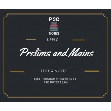 Uppcs Prelims and Mains Tests Series and Notes Program