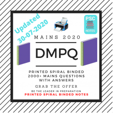 DMPQ- Printed Spiral Binded Notes- Updated Till  July 2020
