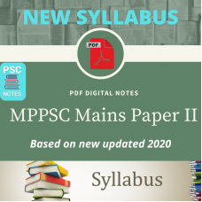 New Syllabus- MPPCS Mains PDF Notes Paper 2