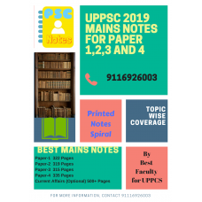 Uppcs Detailed Complete Mains Printed Spiral Binding Notes-COD Facility