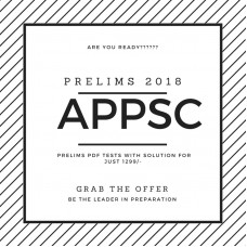 APPSC Prelims Test Series 2020 (Only 24 Tests with solution-PDF)