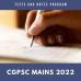 CGPCS Mains Tests 2022 and Notes Program
