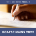 Goa PSC Mains Tests and Notes Program 2022