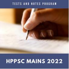 HPPCS Mains Tests and Notes Program 2022