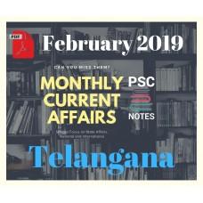 Telangana February- 2019 Current Affairs PDF Module