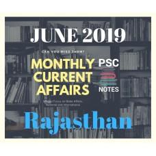 Rajasthan June- 2019 Current Affairs PDF Module