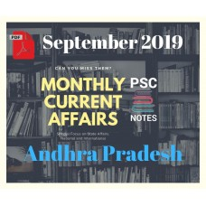 Andhra Pradesh September- 2019 Current Affairs PDF Module