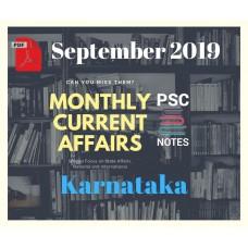 Karnataka September- 2019 Current Affairs PDF Module