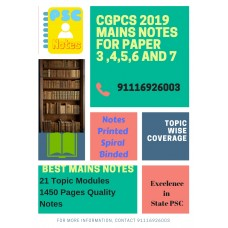 Cgpcs Detailed Complete Mains Printed Spiral Binding Notes-COD Facility
