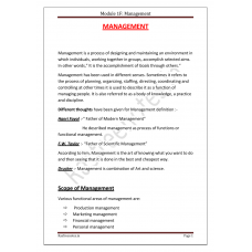 PDF Only- RAS Mains Paper I Unit III Part B Management 2018 updated
