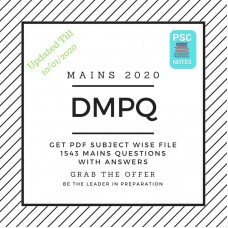 DMPQ PDF Compilation 2020- Mains Mock questions and answers