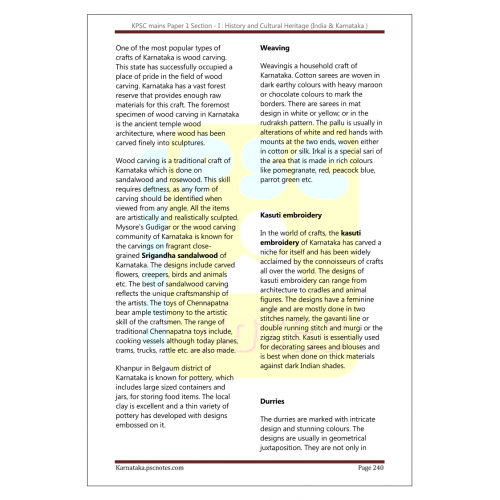 KPSC KAS Mains Paper 1 Section 1- History-pdf