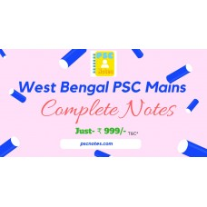 West Bengal (WBPSC) Mains All in One PDF Notes-General Studies