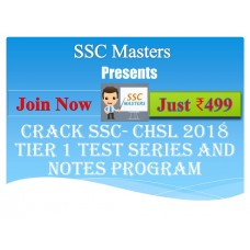 SSC CHSL test-series and Notes Programs