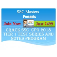 SSC CPO test-series and Notes Programs