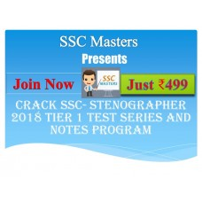 SSC Stenographer test-series and Notes Programs