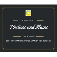 Wbpsc Prelims and Mains Tests Series and Notes Program