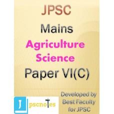 Paper VI C(Agriculture Science) JPSC MAINS PDF MODULE