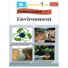 BPSC  PDF Module 7 Environment