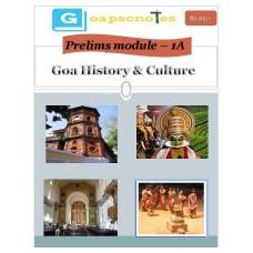 GOAPSC PDF Module 1A Goa History