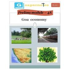 GOAPSC PDF Module 4A Goa Economy