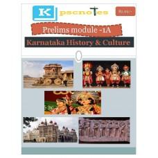 KPSC PDF Module 1A Karnataka History