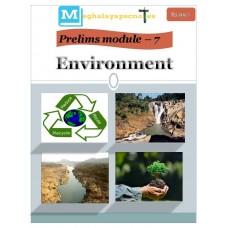 MEGHALAYA PDF Module 7 Environment