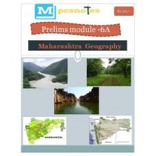 MPSC PDF Module 6A Maharastra Geography