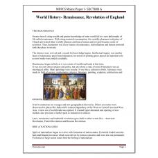 MPPCS Mains Paper I A (History)