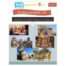 MPPCS  PDF Module 1A Madhya Pradesh History