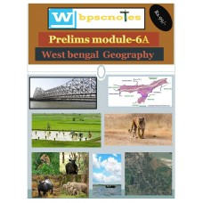 WBPSC  PDF Module 6A West Bengal  Geography