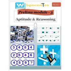WBPSC  PDF Module 3 Aptitude and Reasoning