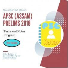 APSC Prelims Exam 2018- test-series and Notes Program