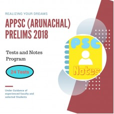 ARUNANCHAL Prelims test-series and Notes Program