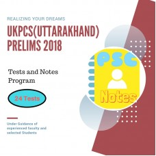 UKPCS Prelims test-series and Notes Program